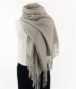 Her Shop accessories Light gray Hot Sale All-Match Men Women Solid Color Luxurious Elegant Cashmere Scarves With Tassel