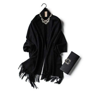 Her Shop accessories black Luxury Pure Wool Winter Scarf & Shawl