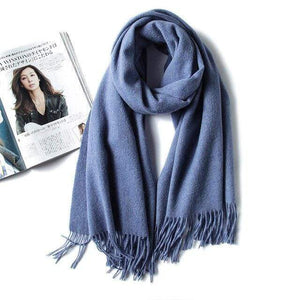 Her Shop accessories deep blue Luxury Pure Wool Winter Scarf & Shawl