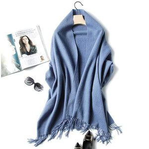 Her Shop accessories blue Luxury Pure Wool Winter Scarf & Shawl