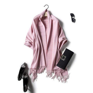 Her Shop accessories pink Luxury Pure Wool Winter Scarf & Shawl