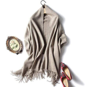 Her Shop accessories nude Luxury Pure Wool Winter Scarf & Shawl
