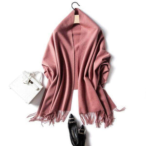 Her Shop accessories dark red Luxury Pure Wool Winter Scarf & Shawl