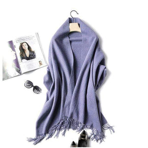 Her Shop accessories purple Luxury Pure Wool Winter Scarf & Shawl