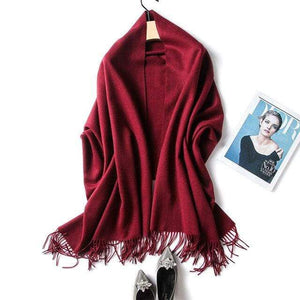 Her Shop accessories winered Luxury Pure Wool Winter Scarf & Shawl