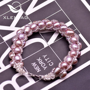 Her Shop accessories Minimalist Natural Purple Pearl Rope Bracelet For Women