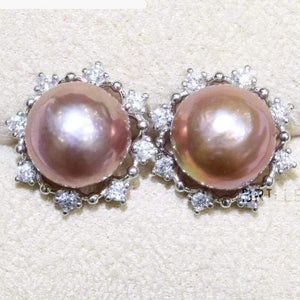 Her Shop accessories Natural Color Freshwater Pearl Fashion Jewelry 9-10mm Edison Pearl Earrings