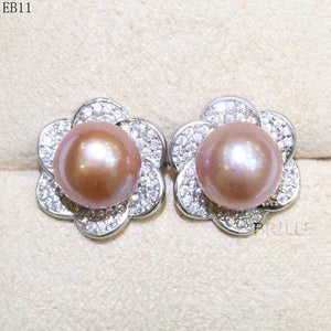 Her Shop accessories EB 11 / 9-10mm Natural Color Freshwater Pearl Fashion Jewelry 9-10mm Edison Pearl Earrings