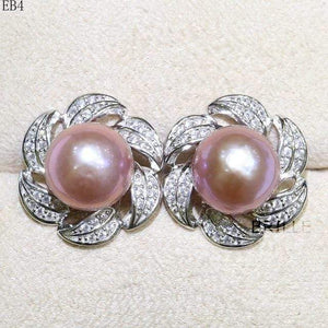 Her Shop accessories EB 4 / 9-10mm Natural Color Freshwater Pearl Fashion Jewelry 9-10mm Edison Pearl Earrings