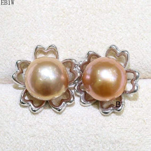 Her Shop accessories EB 1W / 9-10mm Natural Color Freshwater Pearl Fashion Jewelry 9-10mm Edison Pearl Earrings