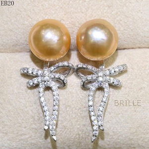 Her Shop accessories EB 20 / 9-10mm Natural Color Freshwater Pearl Fashion Jewelry 9-10mm Edison Pearl Earrings
