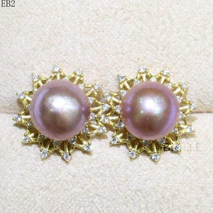 Her Shop accessories EB 2 / 9-10mm Natural Color Freshwater Pearl Fashion Jewelry 9-10mm Edison Pearl Earrings