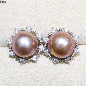 Her Shop accessories EB 3 / 9-10mm Natural Color Freshwater Pearl Fashion Jewelry 9-10mm Edison Pearl Earrings