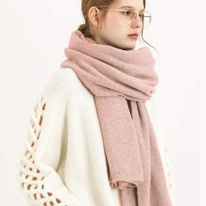Her Shop accessories Pinkgrey New Design Brand Elastic Cashmere  Scarf