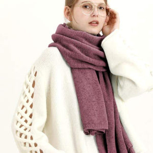 Her Shop accessories Purple New Design Brand Elastic Cashmere  Scarf