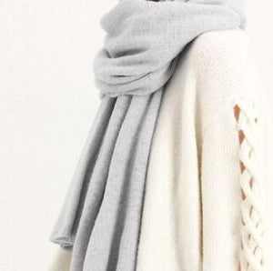 Her Shop accessories Grey New Design Brand Elastic Cashmere  Scarf