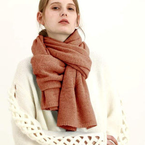 Her Shop accessories Dark orange New Design Brand Elastic Cashmere  Scarf