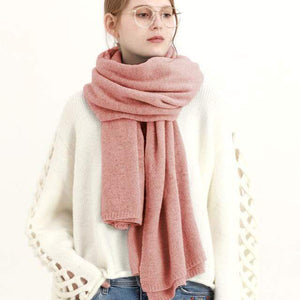 Her Shop accessories Dark pink New Design Brand Elastic Cashmere  Scarf