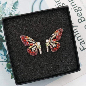 Her Shop accessories ED296hongzuan New European and American Fashion Butterfly Ear Nail