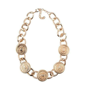 Her Shop accessories 7 New Metal Choker Vintage Maxi Embossed Link Necklace Christmas Chic Collar Jewelry