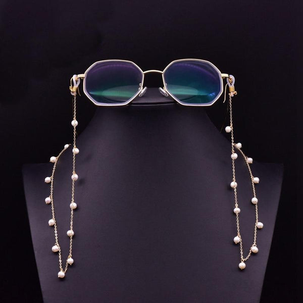 Her Shop accessories Vintage Handmade Natural White Pearls Eyeglasses Chains