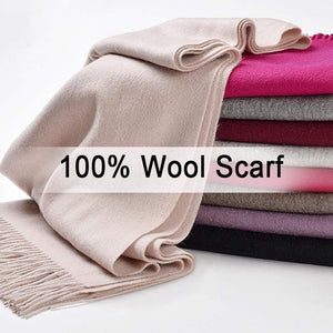 Her Shop accessories Women 100% Real Wool Scarf Winter Scarves