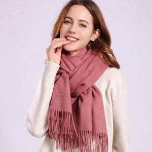 Her Shop accessories Cameo / 180x70cm Women 100% Real Wool Scarf Winter Scarves