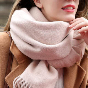 Her Shop accessories Beige / 180x70cm Women 100% Real Wool Scarf Winter Scarves