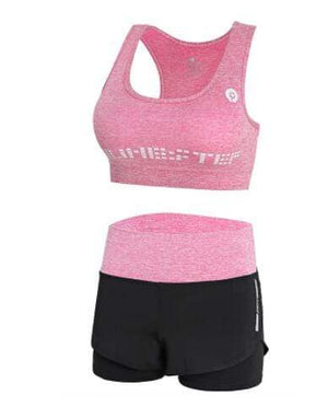 Her Shop activewear 2 piece set 3 / S High waist pants+hooded coat+t shirt+bra+pants women yoga/running  5 pieces set