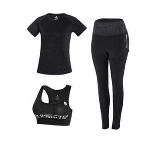 Her Shop activewear 3 piece set 7 / S High waist pants+hooded coat+t shirt+bra+pants women yoga/running  5 pieces set