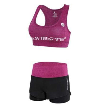 Her Shop activewear 2 piece set 4 / S High waist pants+hooded coat+t shirt+bra+pants women yoga/running  5 pieces set