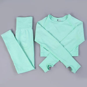 Her Shop activewear green set / L / CHINA Hot Sale Women Gym/Yoga  Suit