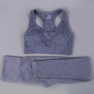 Her Shop activewear gray summer set / S / CHINA Hot Sale Women Gym/Yoga  Suit