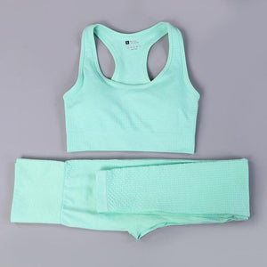 Her Shop activewear green summer set / S / CHINA Hot Sale Women Gym/Yoga  Suit