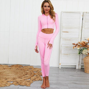 Her Shop activewear Pink Yoga Set / M New Women 2 PCS Yoga Fitness Sports Suits