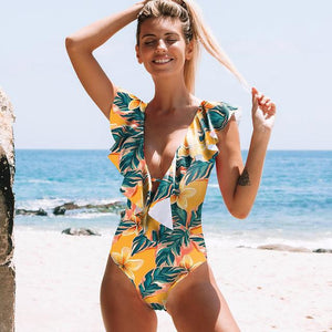 Her Shop activewear SH18034Y1 / S Sexy One Piece Swimsuit Push Up Swimwear