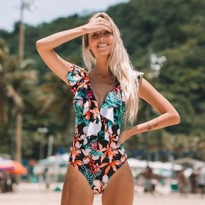 Her Shop activewear SH18034DO / XXL Sexy One Piece Swimsuit Push Up Swimwear