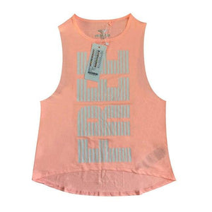 Her Shop activewear Orange / XS Women Letter Printed Breathable  Yoga Top