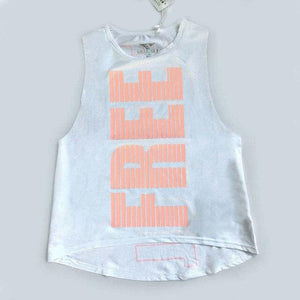 Her Shop activewear White / XS Women Letter Printed Breathable  Yoga Top