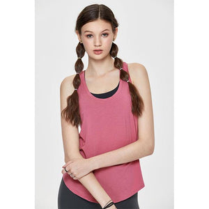 Her Shop activewear Misty Merlot08 / XS ( US 00) Women's Flowy Lightweight Pima Cotton Workout Tank Tops