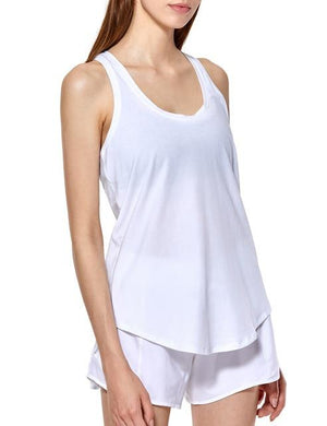 Her Shop activewear White03 / XS ( US 00) Women's Flowy Lightweight Pima Cotton Workout Tank Tops
