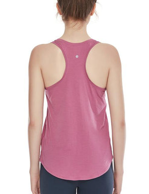 Her Shop activewear Moss Rose05 / L (US 8-10) Women's Flowy Lightweight Pima Cotton Workout Tank Tops