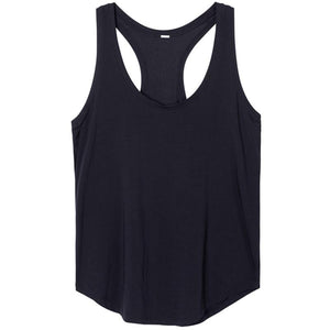 Her Shop activewear Black01 / XS ( US 00) Women's Flowy Lightweight Pima Cotton Workout Tank Tops