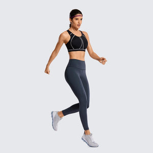 Her Shop activewear Women's High Impact Padded Supportive Wire-free Full Coverage Sports Bra