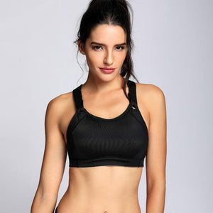 Her Shop activewear Black01 / B / 34 Women's High Impact Wire Free Full Coverage Lightly Padded Sports Bra