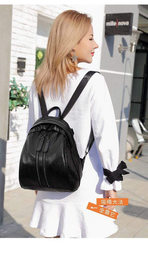 Her Shop Backpack High Quality Youth Leather Backpacks