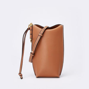 Her Shop bag 6 / 20x9x4 cm Genuine Leather Bucket Bag
