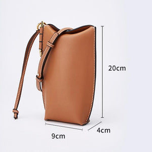 Her Shop bag Genuine Leather Bucket Bag