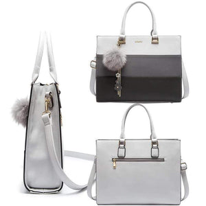 Her Shop Bags PU Leather Messenger Bag For Laptop