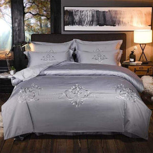 Her Shop Bedding 14 / Queen 4pcs Europe luxury Embroidery Bedding Sets 100% Egypt Cotton Bedclothes Duvet/Quilt Cover Bed Linen Sheet wedding Set Queen King Size